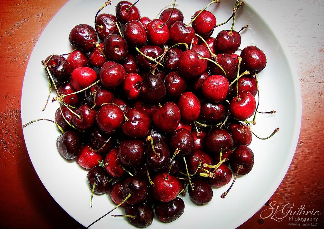 Cherries: Found in fridge