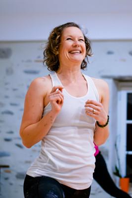 Yoga teacher smiling branding portrait.j