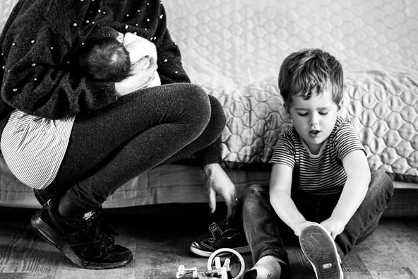 Breastfeeding mother with son documentar