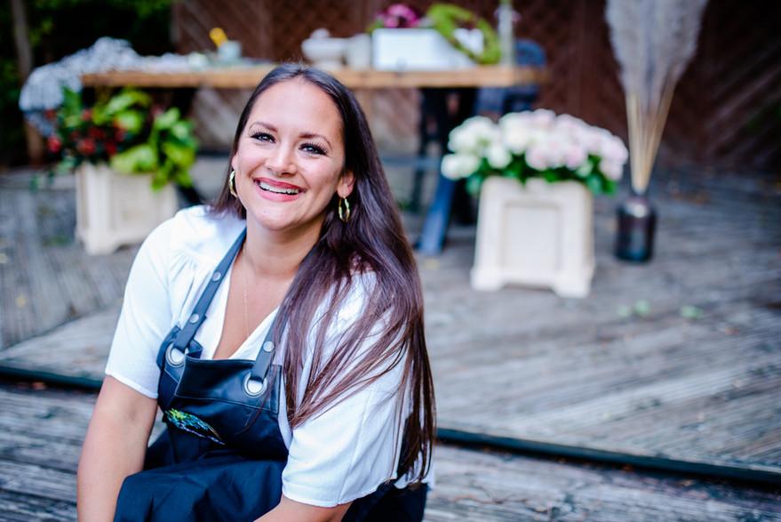 Female Headshot portrait florist with fl