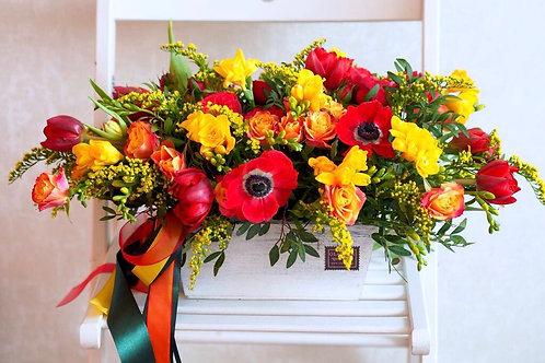 Невероятная коробочка цветов