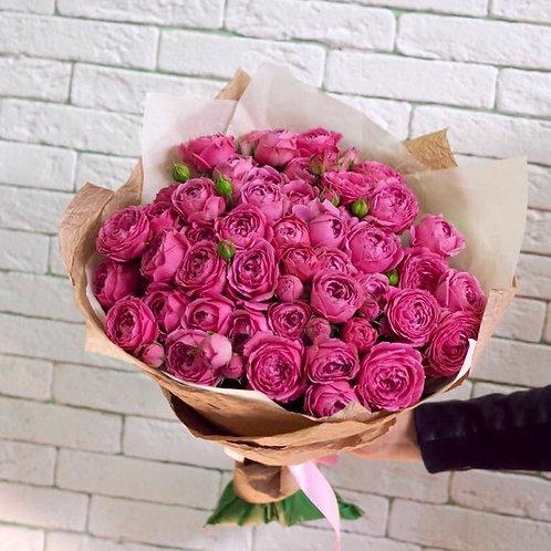 """Кустовые пионовидные розы """"Мисти Баблз"""""""