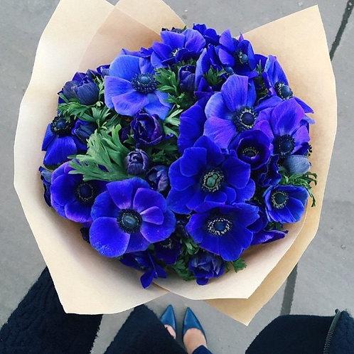Букет «Цвет настроения синий»