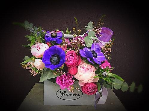 Весенняя коробочка с цветами