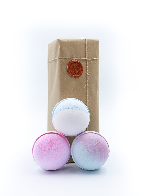 Blue Sugar, Candy Floss, Pink Sugar Bath Bomb Gift Set