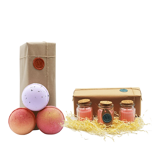 Tropical Fruit, Lavender, Strawberry Champagne & Jasmine Gift Set