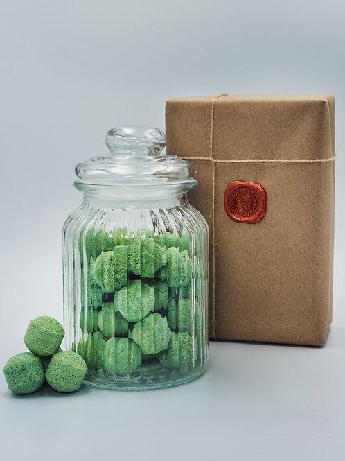 Mango Mini Bath Bomb Chill Pills - Glass Jar