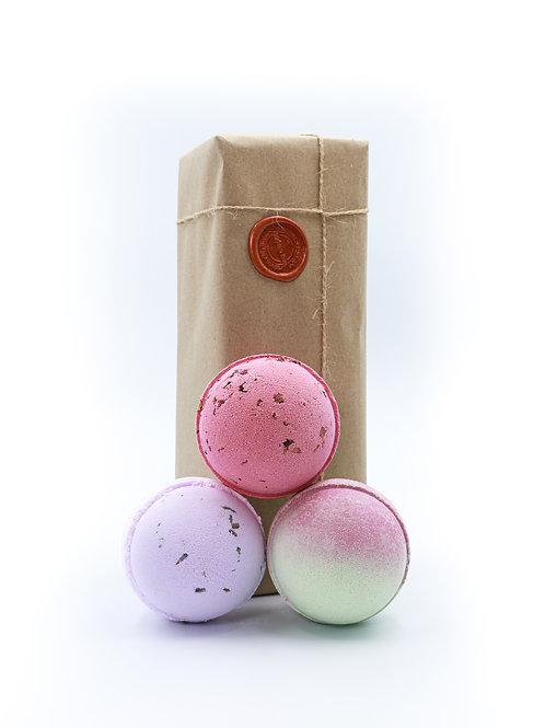 Lavender, Rhubarb & Rose, Cherry Apple Bath Bomb Gift Set