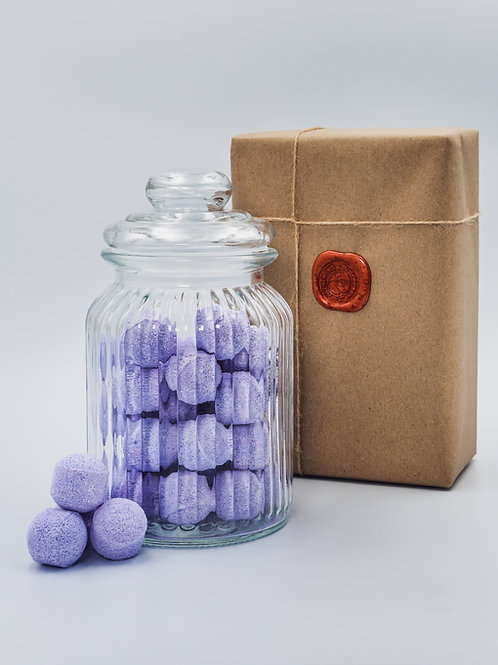 British Cherry Mini Bath Bomb Chill Pills - Glass Jar