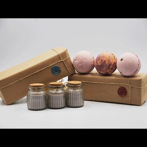 Brandy Butter Candles - Latte, Chocolate Orange & Latte Bath Bombs Gift Set