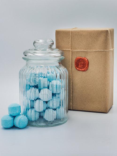 Sea Breeze Mini Bath Bomb Chill Pills - Glass Jar