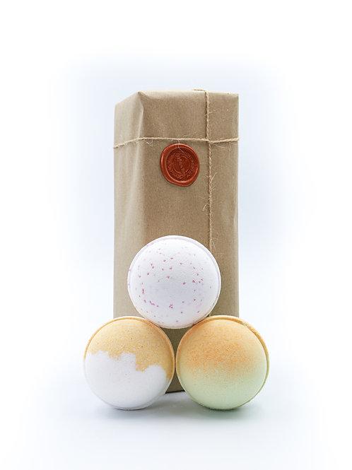 Coconut, Lemon zest, Lime Mango Bath Bomb Gift Set