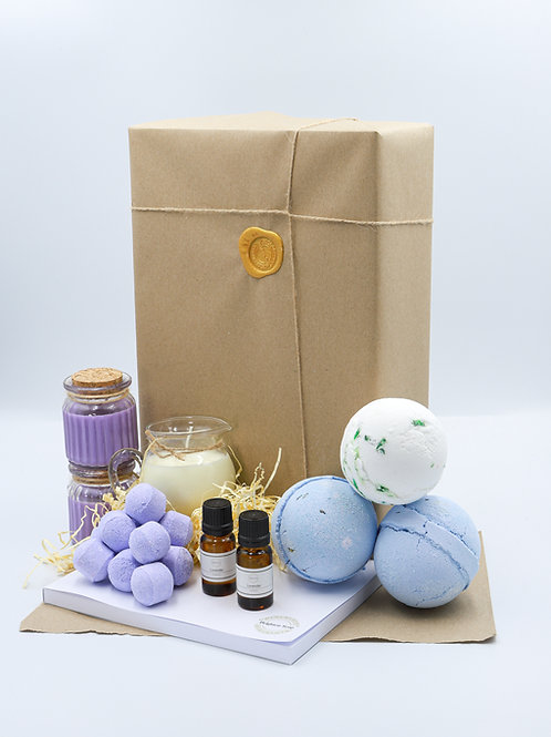 The Purple Brighton Soap Bath Bomb Gift Set With Diary