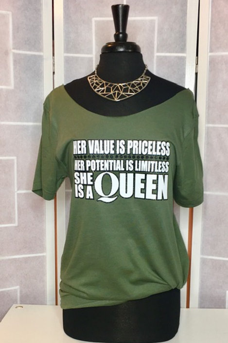 Priceless Queen Glitter Tee