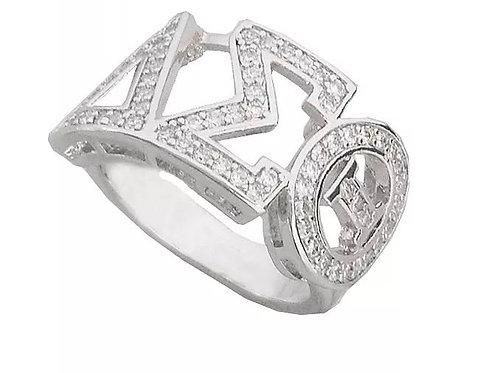 Delta Sigma Theta 925 Silver Fashion Ring
