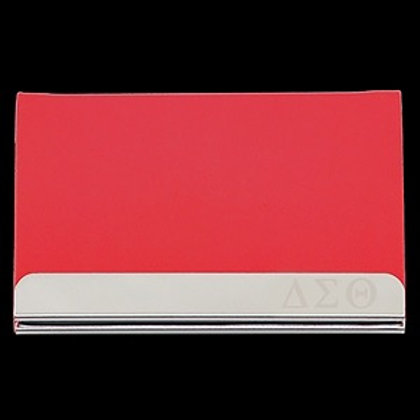Delta Sigma Theta Stainless Steel Business Card Holder