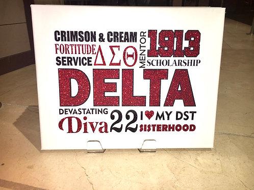 Delta Terms Canvas Frame