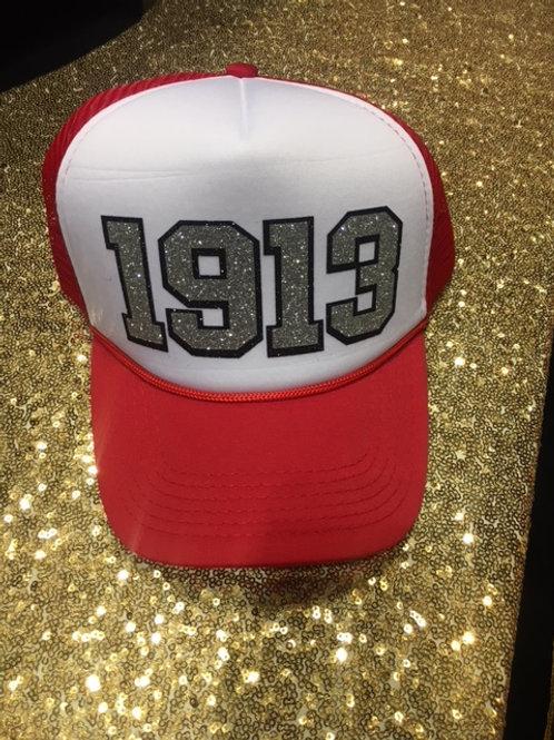 1913 Snapback Cap - Red