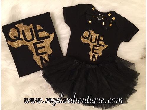 Queen Black (Mommy & Me Combo)
