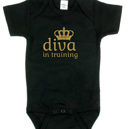 Diva In Training - Black (Youth Shirt)