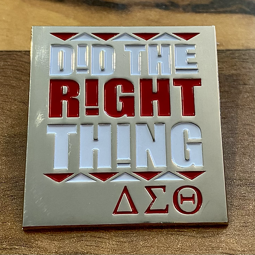 Did the Right Thing Lapel Pin - Silver