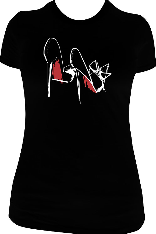 Red Bottoms Glitter Tee