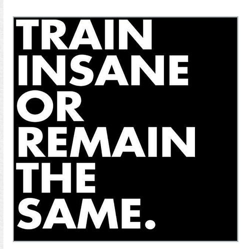 Train Insane Or Remain The Same - White Font
