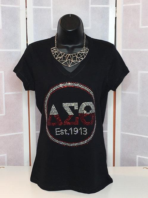 Delta Sigma Theta Est. 1913 Rhinestone Shirt