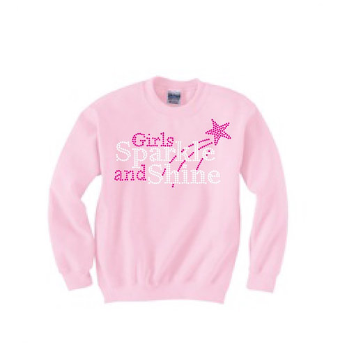 Girls Sparkle and Shine Sweatshirt