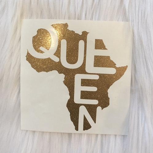 Queen Glitter Decal