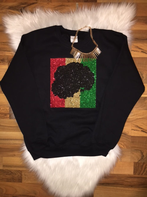 Afro Diva - Red, Gold, Green - Sweatshirt