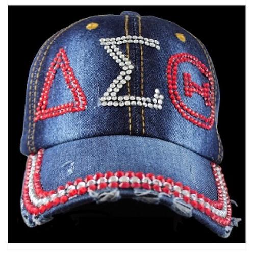 Delta Sigma Theta Rhinestone Baseball Cap
