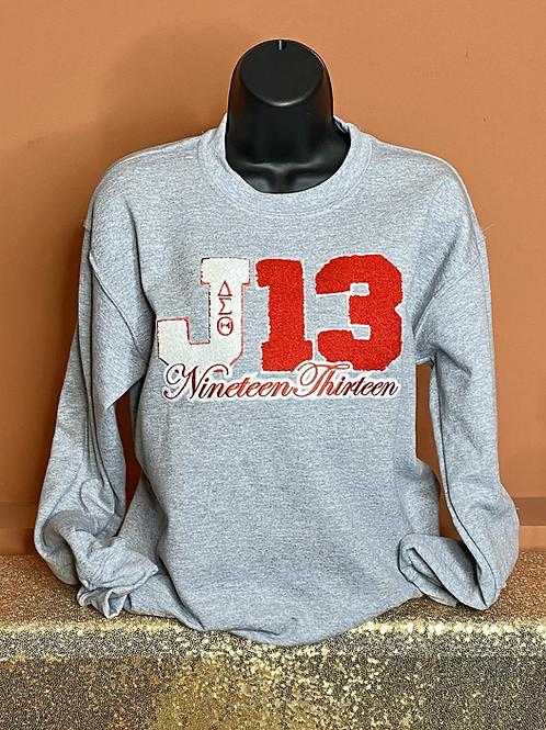 J13 Chenille Sweatshirt - Grey