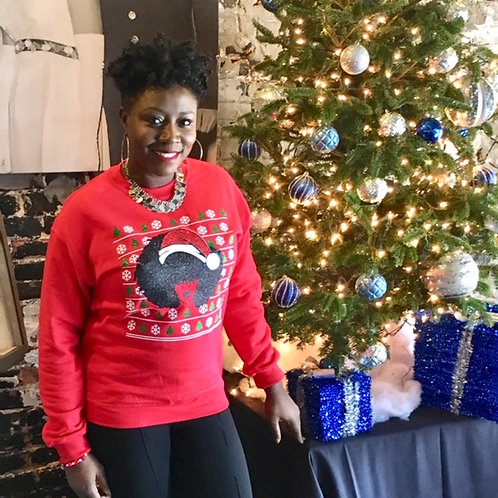 Natural Born Queen Holiday Sweater - Red
