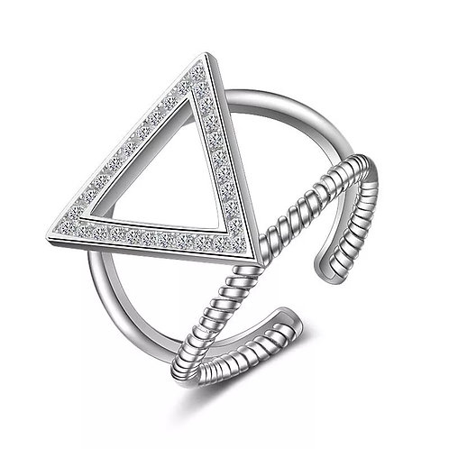 Pyramid 925 Silver Fashion Ring