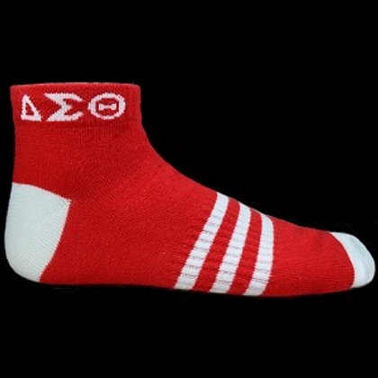 Delta Sigma Theta Ankle Socks Red