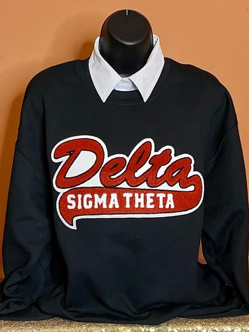 Delta Sigma Theta Retro Chenille Sweatshirt