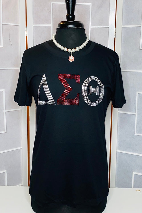 Delta Sigma Theta Rhinestone Shirt