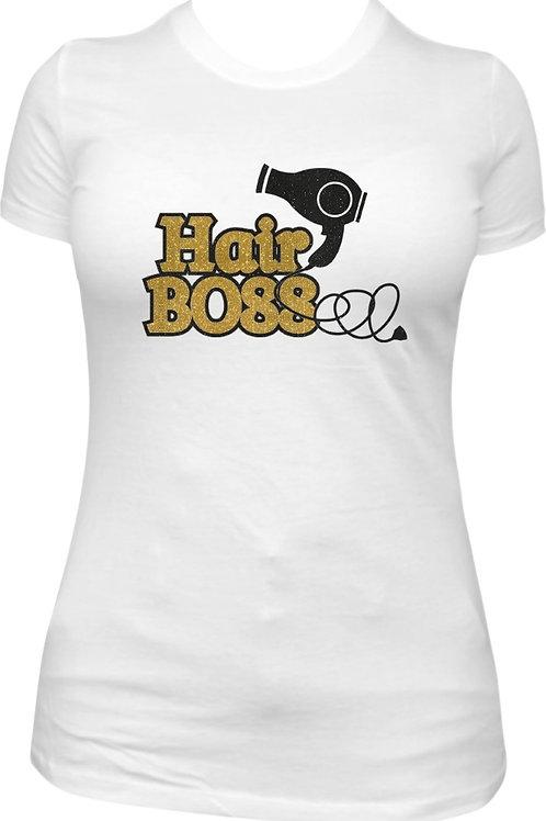 Hair BOSS Glitter Tee - Gold