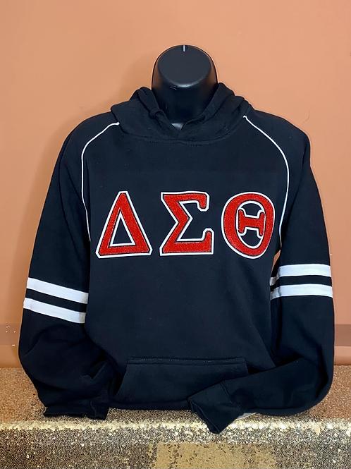 Delta Sigma Theta Chenille Hooded Sweatshirt