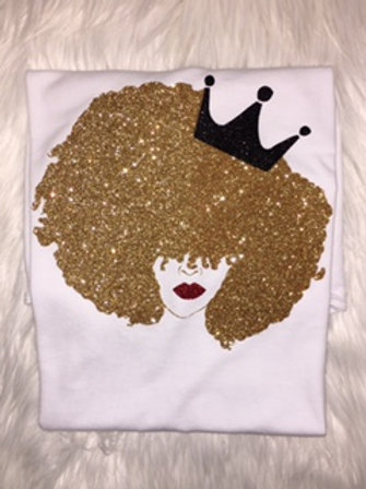 Natural Born Queen Youth - White Tee - Multiple Color Options