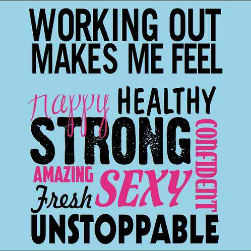 Workout Phrase - Black & Pink