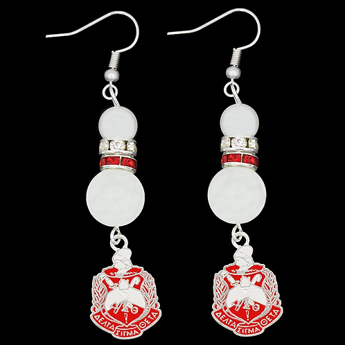Delta Sigma Theta Pearl Earrings