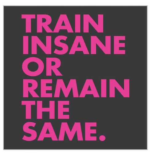Train Insane Or Remain The Same - Pink Font