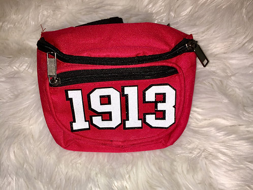 1913 Glitter Fanny Pack - Red