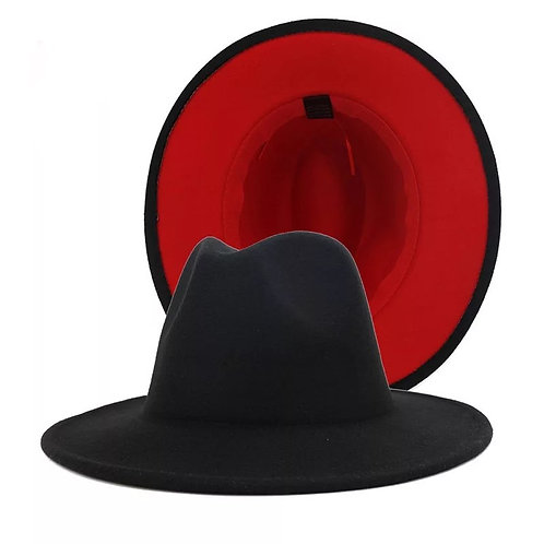 Fedora - Black with Red Bottom