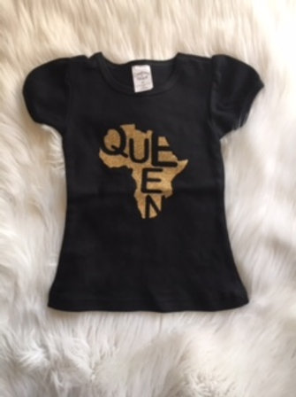 Queen Youth Tee Gold