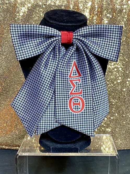 Delta Sigma Theta Houndstooth Bow Tie