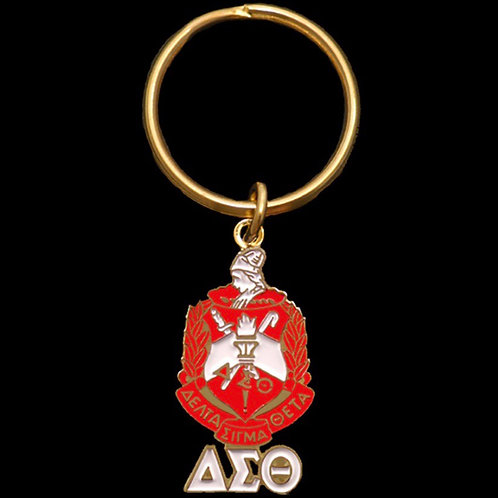 Delta Sigma Theta Shield Keychain