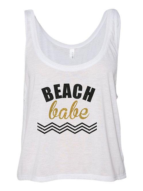 Beach Babe Tank - White